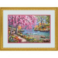 """Набор для вышивания крестом """"Вишня в цвету//Cherry Blossom Creek"""" DIMENSIONS 70-35374"""