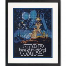 """Набор для вышивания крестом """"Люк и принцесса Лея//Luke and Princess Leia"""" DIMENSIONS 70-35380"""