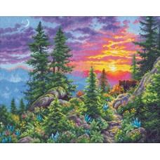 "Набор для вышивания крестом ""Sunset Mountain Trail//Закат в горах"" DIMENSIONS 70-35383"