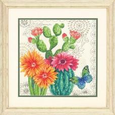 """Набор для вышивания крестом """"Cactus Bloom//Цветение кактусов"""" DIMENSIONS 70-35388"""