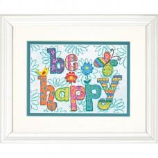 """Набор для вышивания крестом """"Будь счастлив//Be Happy"""" DIMENSIONS 70-65115"""