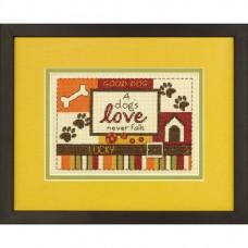 """Набор для вышивания крестом """"Собачья любовь//A Dog's Love"""" DIMENSIONS 70-65124"""