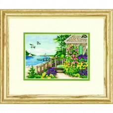"""Набор для вышивания крестом """"Коттедж у пляжа//Bayside Cottage"""" DIMENSIONS 70-65145"""