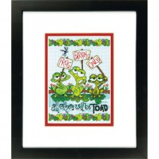 """Набор для вышивания крестом """"Жабья парковка//Frog Parking"""" DIMENSIONS 70-65148"""