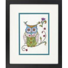 """Набор для вышивания крестом """"Цветущая сова//Blooming owl"""" DIMENSIONS 70-65163"""