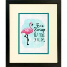 """Набор для вышивания крестом """"Быть фламинго//Be a Flamingo"""" DIMENSIONS 70-65168"""
