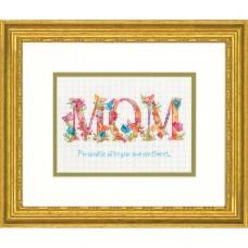 """Набор для вышивания крестом """"Мама//Mom"""" DIMENSIONS 70-65180"""