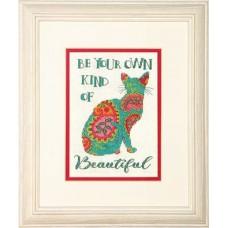 """Набор для вышивания крестом """"Пейсли кошка//Paisley Cat"""" DIMENSIONS 70-65190"""