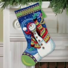 """Набор для вышивания гобеленом """"Счастливый снеговик//Happy Snowman"""" DIMENSIONS 71-09143"""