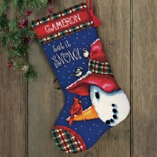 """Набор для вышивания гобеленом """"Снеговик//Snowman Perch Stocking"""" DIMENSIONS 71-09149"""