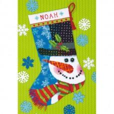 """Набор для вышивания гобеленом """"Снеговик//Patterned Snowman Stocking"""" DIMENSIONS 71-09155"""