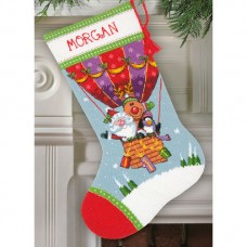 "Набор для вышивания гобеленом ""Воздушный шар Санта-Клауса//Santa's Balloon Ride Stocking"" DIMENSIONS 71-09156"