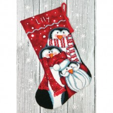 """Набор для вышивания гобеленом """"Праздничные пингвины//Holiday Penguins Stocking"""" DIMENSIONS 71-09158"""