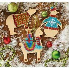 """Набор для вышивания крестом """"Животные//Animal Wood Ornaments"""" DIMENSIONS 70-08983"""