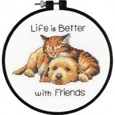 """Набор для вышивания крестом """"Лучше с друзьями//Better with Friends"""" DIMENSIONS 72-74549"""