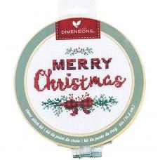 """Набор для вышивания крестом """"Merry Christmas//Счастливого Рождества"""" DIMENSIONS 72-76043"""