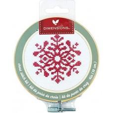 """Набор для вышивания крестом """"Snowflake//Снежинка"""" DIMENSIONS 72-76049"""