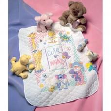 """Набор для вышивания крестом """"Милые... Или как?//Cute…Or What? Baby Quilt"""" DIMENSIONS 72724"""