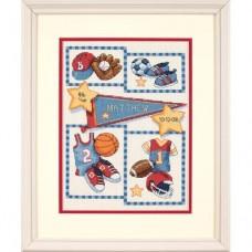 """Набор для вышивания крестом """"Маленький спортсмен//Little Sports Birth Record"""" DIMENSIONS 73256"""