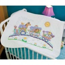 """Набор для вышивания крестом """"Детский Экспресс//Baby Express Quilt"""" DIMENSIONS 73427"""