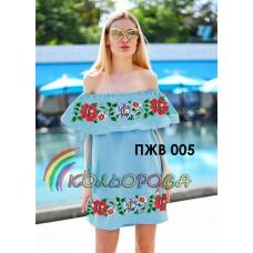 Плаття жіноче без рукавів з воланом ПЖВ-005