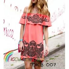 Плаття жіноче без рукавів з воланом ПЖВ-007